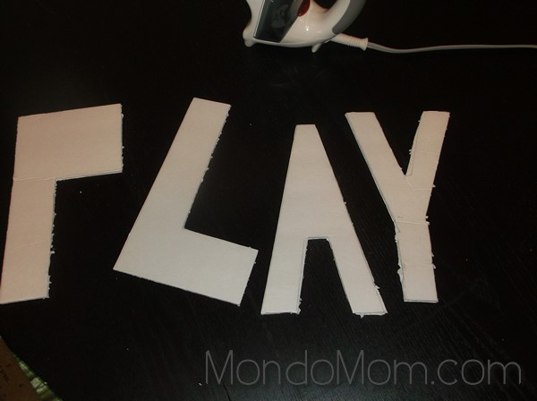Cut letters out of foam board