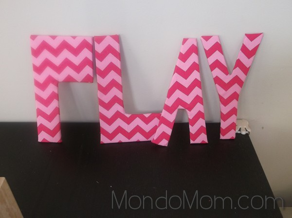 Foam board decorative letters