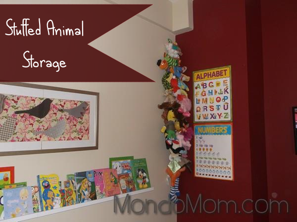 Tutorial for stuffed animal organizer