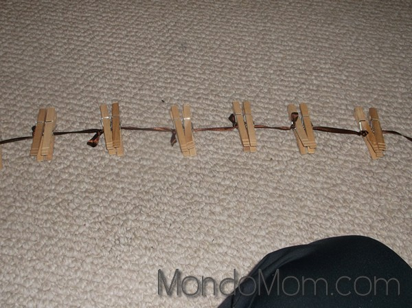Clothespins for stuffed animal storage