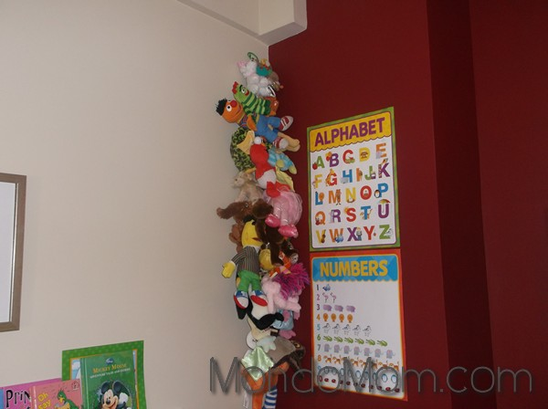 Hanging stuffed animal display