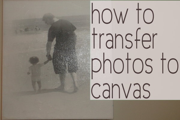 how to transfer photo to canvas