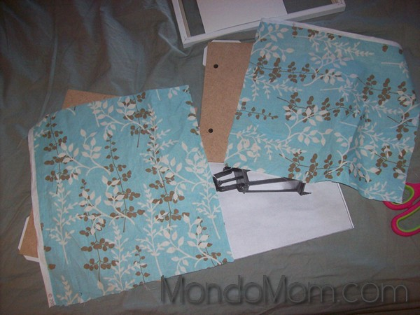 Fabric photo mats DIY