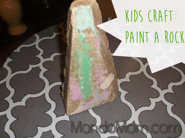 kids craft idea: rock painting