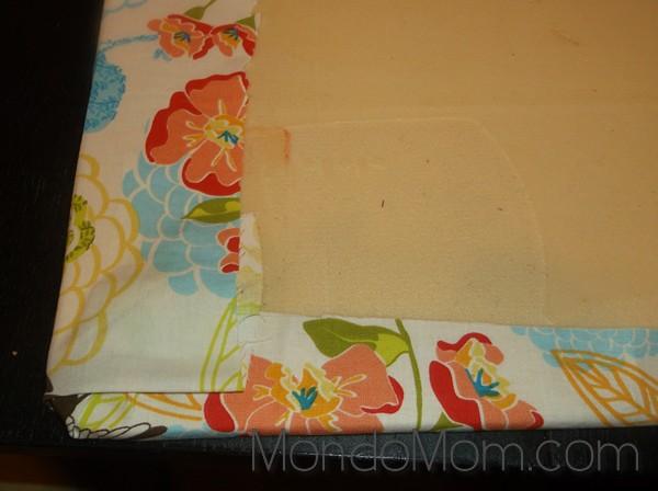 Fabric kitchen mat makeover DIY
