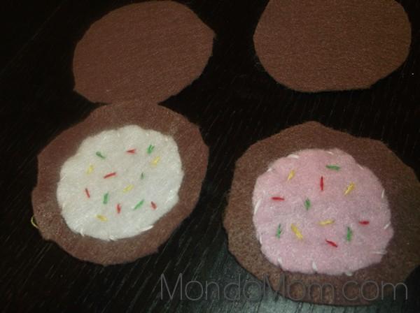 DIY felt cookies: icing & sprinkles
