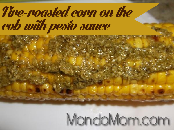 Recipe: corn on the cob with pesto sauce