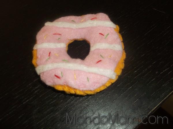 DIY felt donut: stuff & sew along outer circle