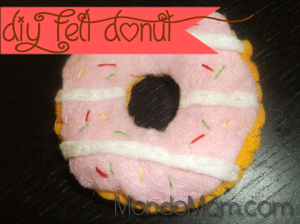 DIY felt donut