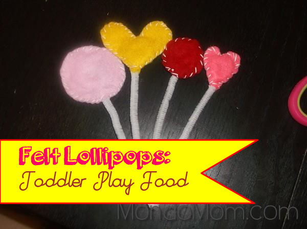 DIY felt lollipops: toddler play food