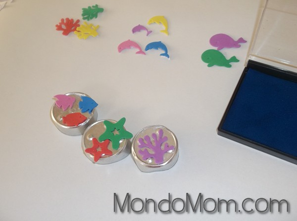 DIY custom foam stamps:foam stickers grouped together