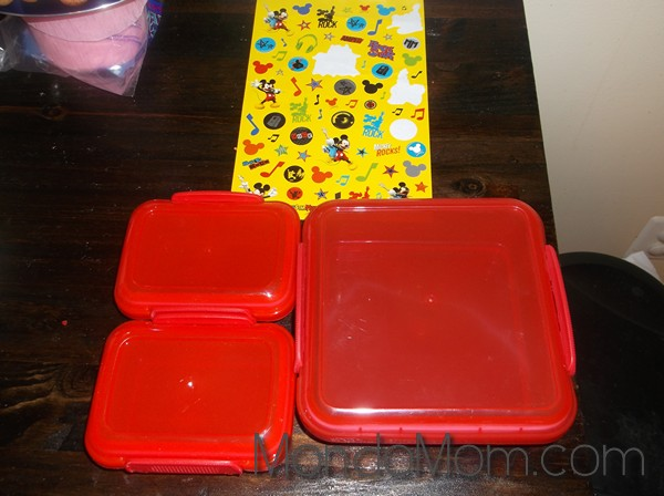 Personalized lunch containers from dollar store