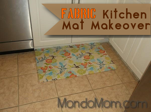 Fabric kitchen mat makeover