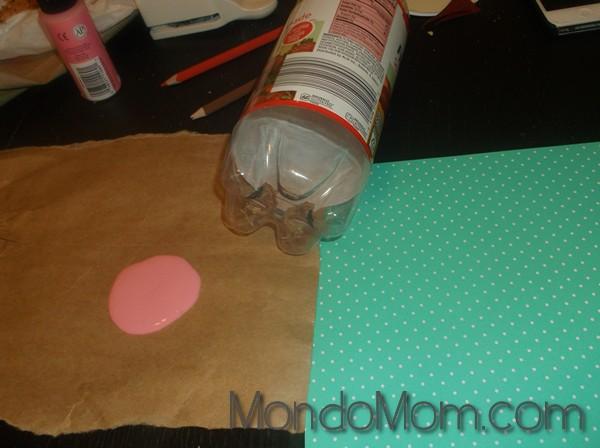 More toddler art: bottle stamping supplies