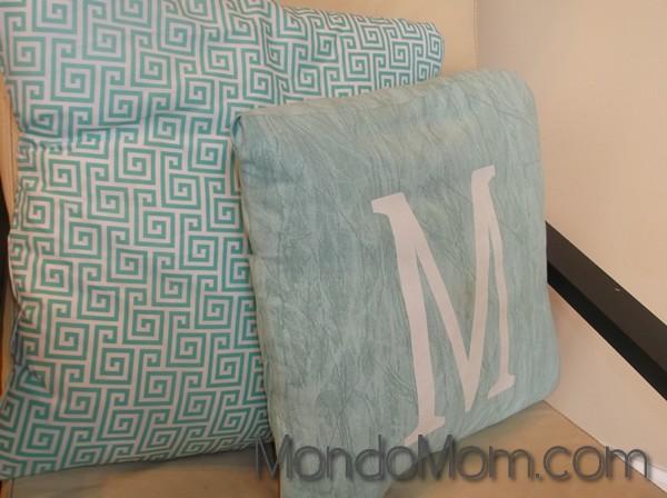 Custom letter initial pillow