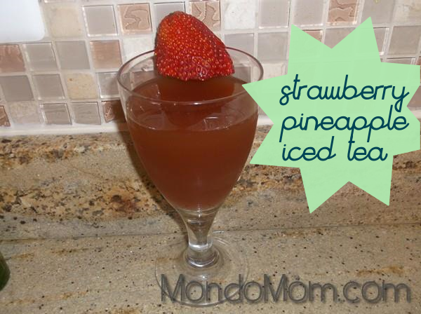 strawberry pineapple iced tea
