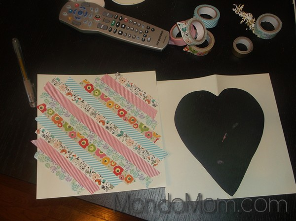 Toddler Art Project: washi tape heart