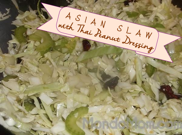 Recipe for Asian slaw with Thai peanut dressing