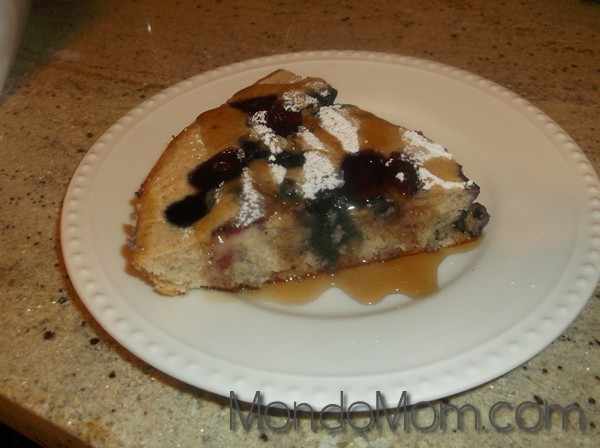 Baked Pancake with Berries & Syrup