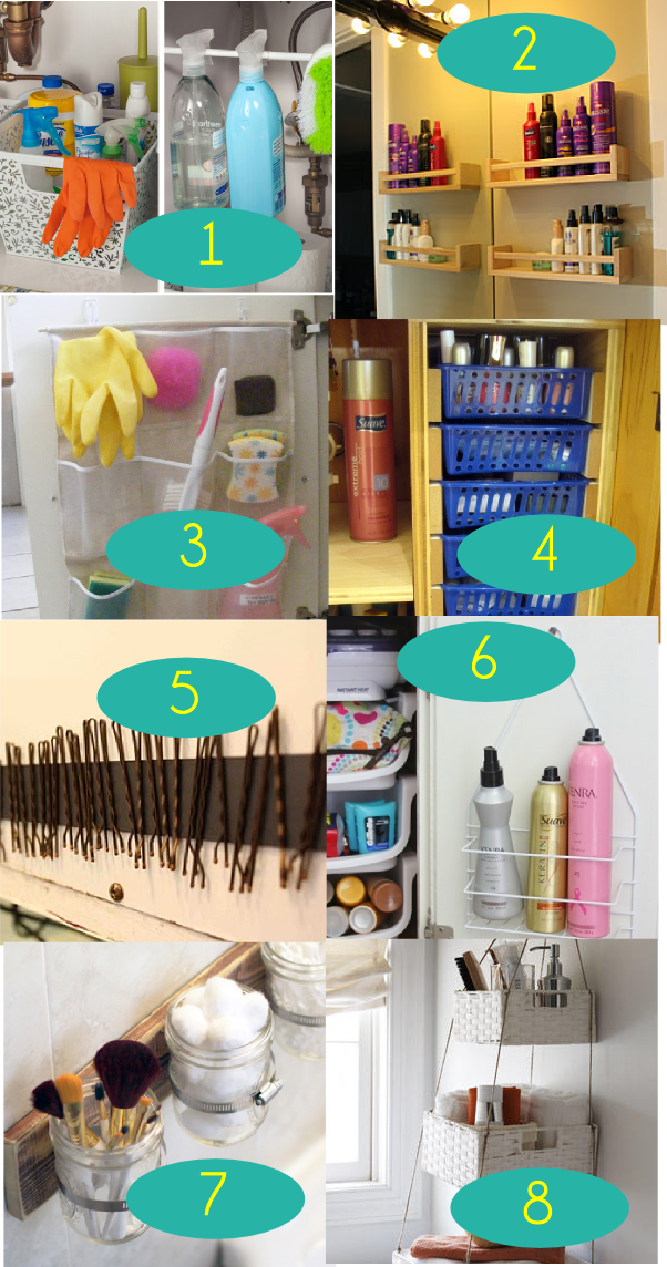 Bathroom organization ideas roundup
