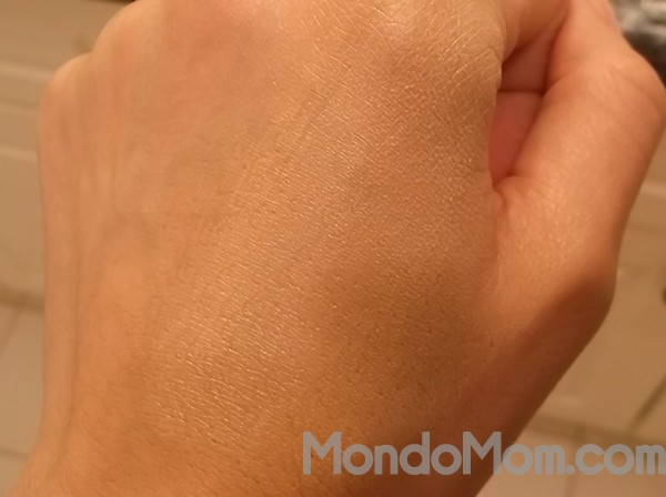DIY BB cream applied to my hand