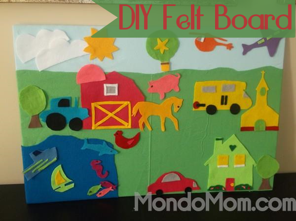 DIY felt board for kids with printable templates