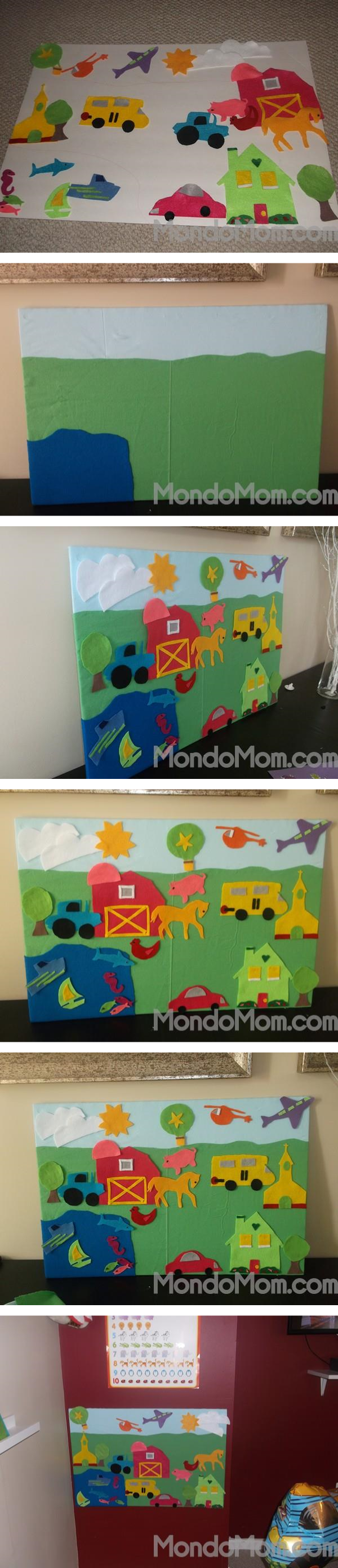 DIY felt board for kids tutorial steps