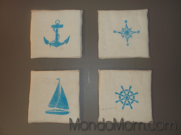 DIY nautical artwork