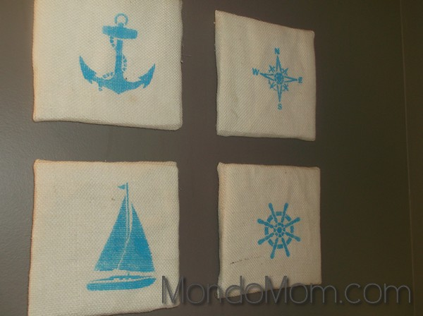 DIY Nautical Burlap Wall Artwork