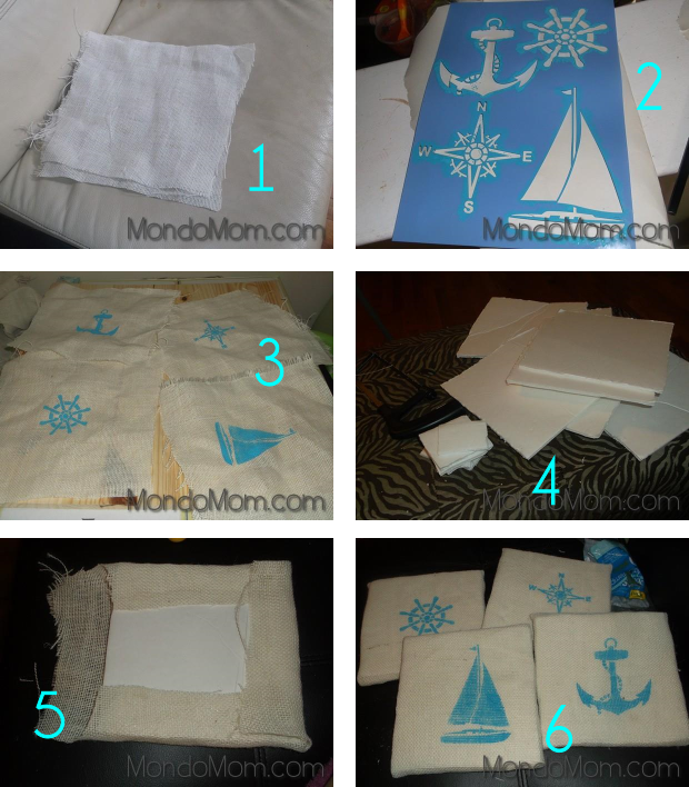 DIY nautical artwork: tutorial steps