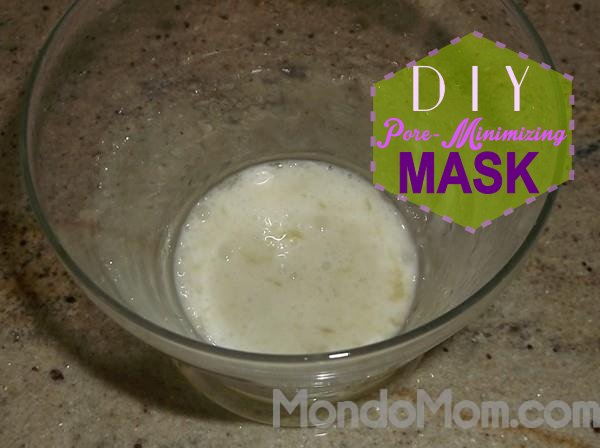 DIY pore minimzing facial mask