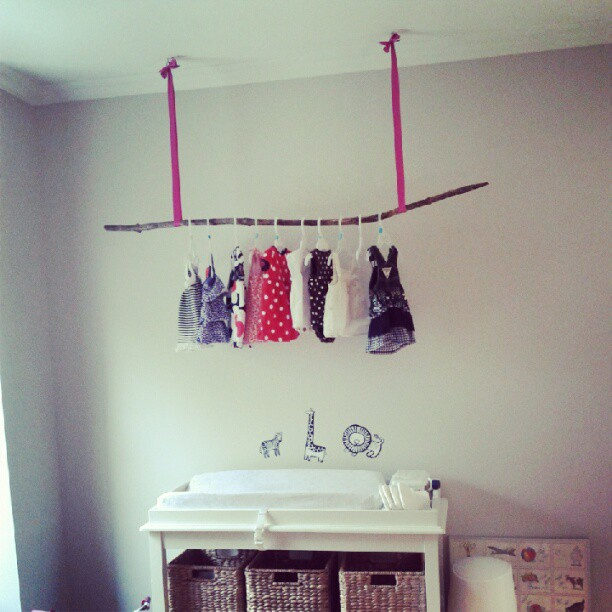 Driftwood clothing rack