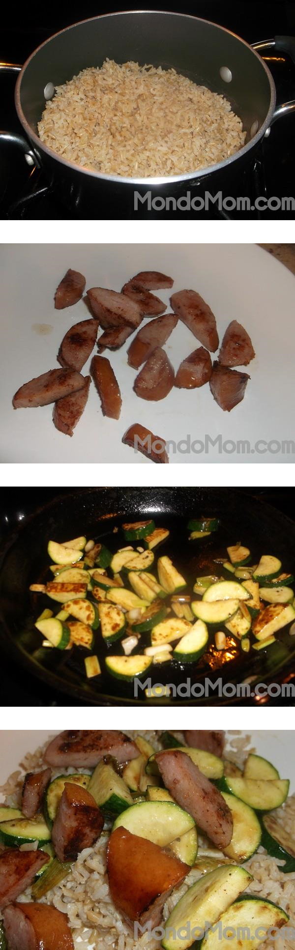 Kielbasa and zucchini recipe steps