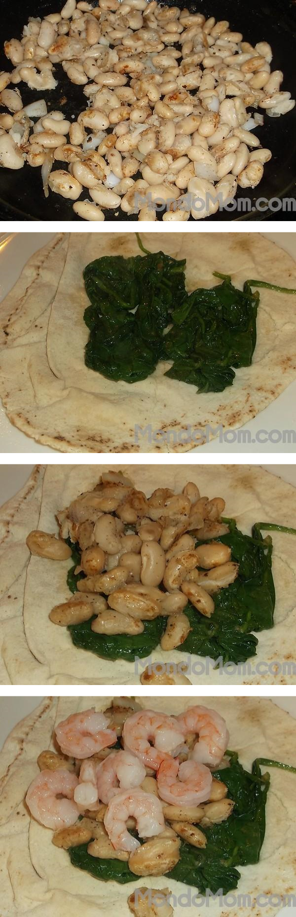 Steps to make tahini pita sandwich