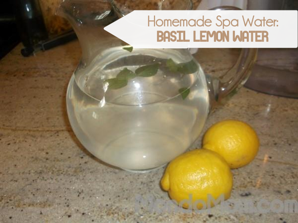 Spa water recipe: basil lemon infused water