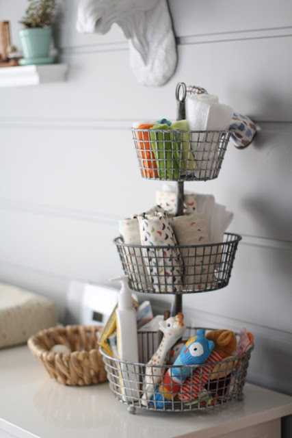 Tiered Basket for Organized Nursery