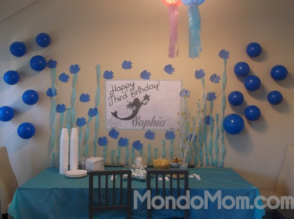 Under the sea birthday tablescape