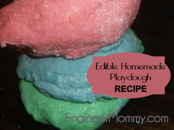 Make your own soft homemade play dough