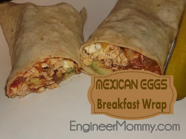 Mexican eggs breakfast wrap recipe