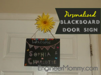 Craft a personalized blackboard door sign