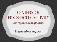 Household activity centers: tips for home organization