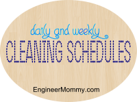 Cleaning schedules: daily and weekly