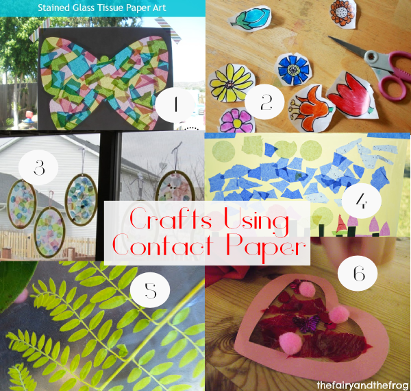 Contact paper crafts