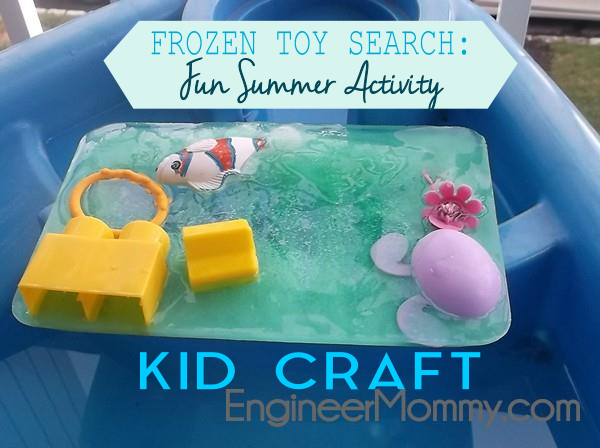 Trapped toys: frozen activity for kids