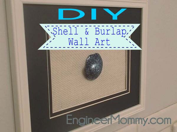 Shell on Burlap DIY Wall Art