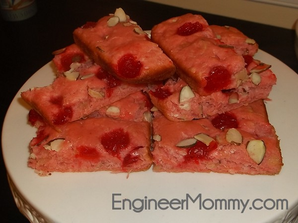 Healthy cherry almond cake