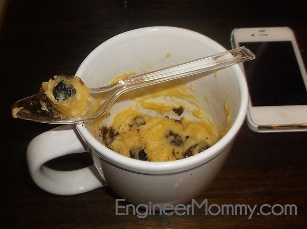 Make a single serve chocolate chip cookie in a microwave!