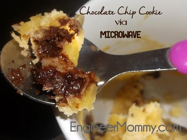 Microwaveable Chocolate Chip Cookie