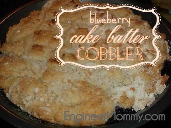 Blueberry Cake Batter Cobbler Recipe