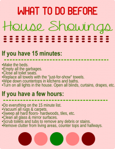 house-showing-checklist